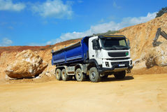 Big truck in a quarry Stock Photo