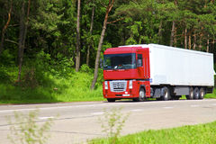 Big truck on the road Royalty Free Stock Image