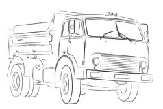 Big truck. Royalty Free Stock Images
