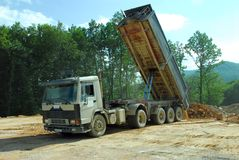 Big truck tipper at work Royalty Free Stock Photos