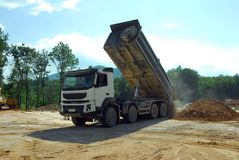 Big truck tipper at work Stock Photography