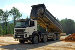 Big truck tipper at work Royalty Free Stock Photo