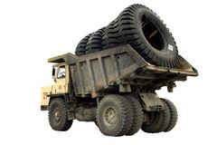Big truck with tires royalty free stock photography