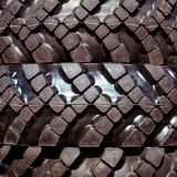 Big truck tires, close up. Close-up shot of the textured pattern of the tyre Stock Photos