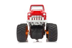 big truck toy color red isolated on white background royalty free stock image
