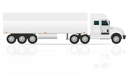 Big truck tractor for transportation cargo vector illustration Stock Photography
