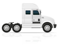 Big truck tractor for transportation cargo vector illustration Royalty Free Stock Photo