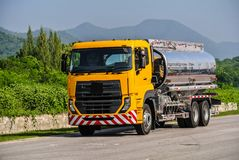 Big truck used for a variety of business operations. Big or heavy duty truck used for a variety of delivery business operations Stock Image