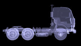 Big truck. X-ray Stock Photography