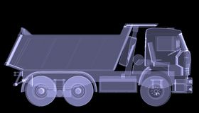 Big truck. X-ray Stock Photo