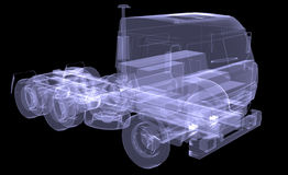 Big truck. X-ray Royalty Free Stock Image