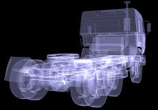 Big truck. X-ray Stock Images