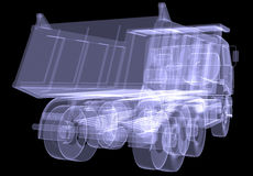 Big truck. X-ray Stock Image