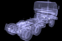 Big truck. X-ray Royalty Free Stock Photo