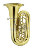 Big tuba. On white background Royalty Free Stock Photo