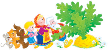 Big Turnip. Clip-art / children's book illustration for your design Royalty Free Stock Image