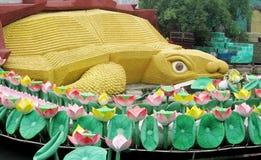 Big turtle model Suoi Tien Amusement Park Stock Photo