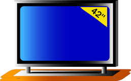 Big TV. Big HDtv panel 42 inches Royalty Free Stock Photography