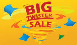 Big Twister Sale. Big Sale retail promotion poster Royalty Free Stock Photography