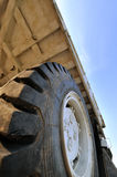 Big tyre of construction loader Royalty Free Stock Images