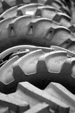 Big tyres for a large machine Royalty Free Stock Photography