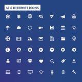 Big UI And Internet icon set. Trendy flat design big UI and Internet icons set on round buttons Royalty Free Stock Images