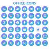 Big UI, UX and Office icon set. Trendy flat design big UI, UX and Office icons set vector illustration