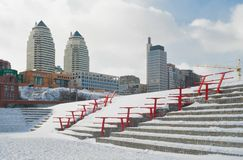 Big Ukrainian city at winter season. Stock Photography