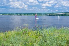 Big Ukrainian river Dnepr Stock Image
