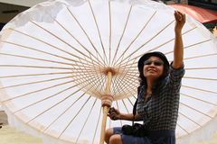Big umbrella. Made from cotton stock image