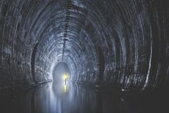 Underground system under city. Big underground system with water under the city Moscow, Russia Stock Image