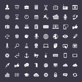 Big universal icon set. 64 Universal icons for web and app. Elegant flat vector icons for business Stock Photo