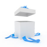 Big unpacked gift box Royalty Free Stock Image