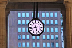 Big urban clock. Milan, Italy. Royalty Free Stock Images