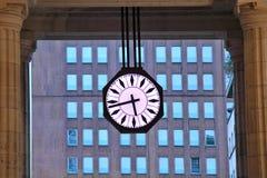 Big urban clock. Milan, Italy. Royalty Free Stock Images