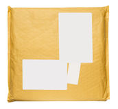 Big used Envelope blank label Royalty Free Stock Photography