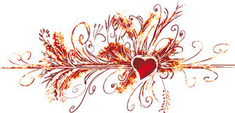 Big valentine flourish Stock Images
