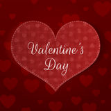 Big Valentines Day Heart Banner with Pattern Royalty Free Stock Photography