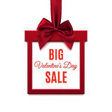 Big, Valentines Day Sale. Red, square banner. Royalty Free Stock Image