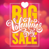 Big Valentines sale Stock Image
