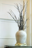 Big vase with dried branches Stock Photo