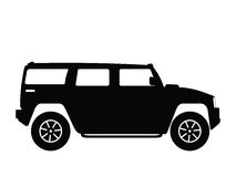 Big vector car. Silhouette big car, vector illustration Stock Photo
