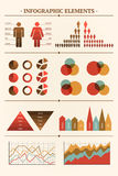 Big vector collection of infographic elements Stock Photography