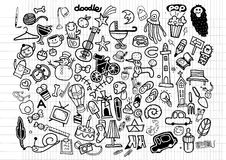 Big Vector Doodle Icons Universal Set Stock Image