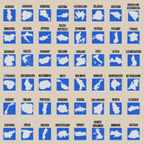 Big vector set of all Europe states Royalty Free Stock Photography