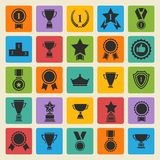 Big vector set black avards  icons Royalty Free Stock Photos