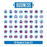 Big vector set of 48 business icons and design elements for your. Project Royalty Free Stock Photos