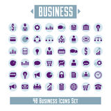 Big vector set of 48 business icons and design elements for your. Project stock illustration