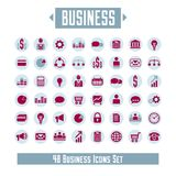 Big vector set of 48 business icons and design elements for your. Project Royalty Free Stock Photo