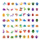 Big vector set of drawings custom characters Royalty Free Stock Image